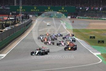 World © Octane Photographic Ltd. Formula 1 - British Grand Prix - Sunday - Race. Lewis Hamilton - Mercedes AMG Petronas F1 W08 EQ Energy+ leads the start. Silverstone, UK. Sunday 16th July 2017. Digital Ref: 1892LB1D3846