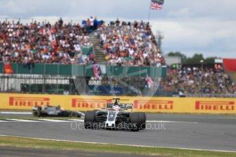 World © Octane Photographic Ltd. Formula 1 - British Grand Prix - Sunday - Race. Romain Grosjean - Haas F1 Team VF-17. Silverstone, UK. Sunday 16th July 2017. Digital Ref: 1892LB1D4188