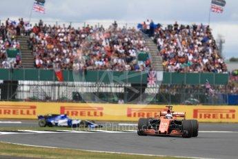 World © Octane Photographic Ltd. Formula 1 - British Grand Prix - Sunday - Race. Fernando Alonso - McLaren Honda MCL32. Silverstone, UK. Sunday 16th July 2017. Digital Ref: 1892LB1D4196