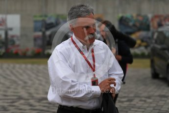 World © Octane Photographic Ltd. Formula 1 - British Grand Prix - Paddock - Sunday Drivers Parade & Grid. Chase Carey - Chief Executive Officer of the Formula One Group. Silverstone, UK. Sunday 16th July 2017. Digital Ref: 1890LB1D3086