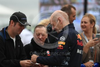 World © Octane Photographic Ltd. Formula 1 - British Grand Prix - Paddock. Adrian Newey - Chief Technical Officer of Red Bull Racing. Silverstone, UK. Sunday 16th July 2017. Digital Ref: 1890LB1D3103