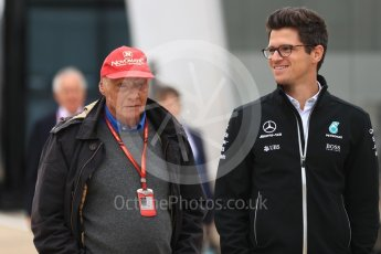 World © Octane Photographic Ltd. Formula 1 - British Grand Prix - Paddock. Niki Lauda - Non-Executive Chairman of Mercedes-Benz Motorsport. Silverstone, UK. Sunday 16th July 2017. Digital Ref: 1890LB1D3119