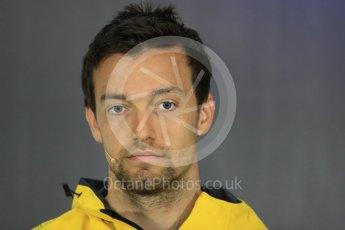 World © Octane Photographic Ltd. Formula 1 - British Grand Prix - Thursday - FIA Driver Press Conference. Jolyon Palmer - Renault Sport F1 Team. Silverstone, UK. Thursday 13th July 2017. Digital Ref: 1877LB1D6991