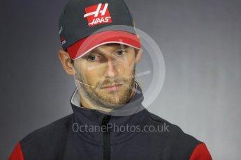 World © Octane Photographic Ltd. Formula 1 - British Grand Prix - Thursday - FIA Driver Press Conference. Romain Grosjean - Haas F1 Team. Silverstone, UK. Thursday 13th July 2017. Digital Ref: 1877LB1D7140