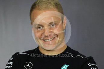 World © Octane Photographic Ltd. Formula 1 - British Grand Prix - Thursday - FIA Driver Press Conference. Valtteri Bottas - Mercedes AMG Petronas F1 Team. Silverstone, UK. Thursday 13th July 2017. Digital Ref: 1877LB1D7218