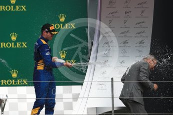World © Octane Photographic Ltd. FIA Formula 2 (F2) - Race 1. Oliver Rowland (3rd) – DAMS. British Grand Prix, Silverstone, UK. Saturday 15th July 2017. Digital Ref: 1887LB1D2424