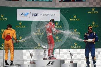 World © Octane Photographic Ltd. FIA Formula 2 (F2) - Race 1. Charles Leclerc (1st) - Prema Racing, Norman Nato (2nd) – Pertamina Arden and Oliver Rowland (3rd) – DAMS. British Grand Prix, Silverstone, UK. Saturday 15th July 2017. Digital Ref: 1887LB1D2447