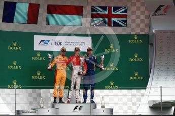World © Octane Photographic Ltd. FIA Formula 2 (F2) - Race 1. Charles Leclerc (1st) - Prema Racing, Norman Nato (2nd) – Pertamina Arden and Oliver Rowland (3rd) – DAMS. British Grand Prix, Silverstone, UK. Saturday 15th July 2017. Digital Ref: 1887LB1D2499