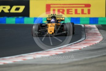 World © Octane Photographic Ltd. Formula 1 - Hungarian Grand Prix Practice 3. Jolyon Palmer - Renault Sport F1 Team R.S.17. Hungaroring, Budapest, Hungary. Saturday 29th July 2017. Digital Ref: