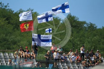 World © Octane Photographic Ltd. Formula 1 - Hungarian Grand Prix Practice 3. Finnish/Bottas/Raikkonen fans. Hungaroring, Budapest, Hungary. Saturday 29th July 2017. Digital Ref: