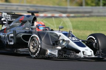 World © Octane Photographic Ltd. Formula 1 - Hungarian in-season testing. Santino Ferrucci - Haas F1 Team VF-17. Hungaroring, Budapest, Hungary. Tuesday 1st August 2017. Digital Ref:1916CB1L2622