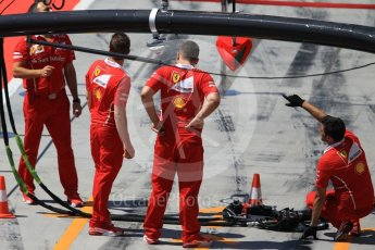 World © Octane Photographic Ltd. Formula 1 - Hungarian in-season testing. Scuderia Ferrari pit box. Hungaroring, Budapest, Hungary. Tuesday 1st August 2017. Digital Ref: