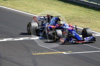 World © Octane Photographic Ltd. Formula 1 - Hungarian in-season testing. Sean Gelael - Scuderia Toro Rosso STR12. Hungaroring, Budapest, Hungary. Tuesday 1st August 2017. Digital Ref: