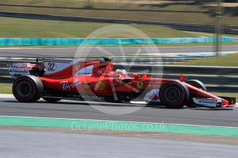 World © Octane Photographic Ltd. Formula 1 - Hungarian in-season testing. Charles LeClerc - Scuderia Ferrari SF70H. Hungaroring, Budapest, Hungary. Tuesday 1st August 2017. Digital Ref:1916LB1D2676