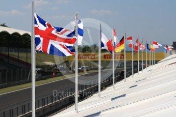 World © Octane Photographic Ltd. Formula 1 - Hungarian in-season testing. National flags. Hungaroring, Budapest, Hungary. Tuesday 1st August 2017. Digital Ref: 1916LB1D2715
