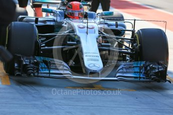 World © Octane Photographic Ltd. Formula 1 - Hungarian in-season testing. George Russell - Mercedes AMG Petronas F1 W08 EQ Energy+ nose swap. Hungaroring, Budapest, Hungary. Tuesday 1st August 2017. Digital Ref:1916LB5D3204
