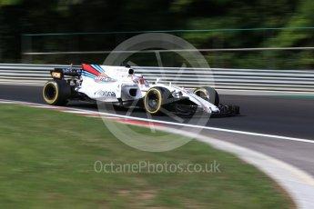 World © Octane Photographic Ltd. Formula 1 - Hungarian in-season testing. Luca Ghiotto - Williams Martini Racing FW40. Hungaroring, Budapest, Hungary. Wednesday 2nd August 2017. Digital Ref: