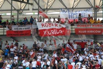 World © Octane Photographic Ltd. Formula 1 - Hungarian in-season testing. Robert Kubica fans. Hungaroring, Budapest, Hungary. Wednesday 2nd August 2017. Digital Ref: