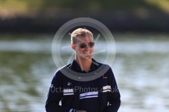 World © Octane Photographic Ltd. Formula 1 - Canadian Grand Prix - Saturday Paddock. Marcus Ericsson – Sauber F1 Team. Circuit Gilles Villeneuve, Montreal, Canada. Saturday 10th June 2017. Digital Ref: 1849LB1D4669