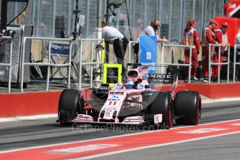 World © Octane Photographic Ltd. Formula 1 - Canadian Grand Prix - Saturday - Practice 3. Sergio Perez - Sahara Force India VJM10. Circuit Gilles Villeneuve, Montreal, Canada. Saturday 10th June 2017. Digital Ref: 1853LB1D5870