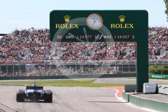 World © Octane Photographic Ltd. Formula 1 - Canadian Grand Prix - Saturday - Practice 3. Pascal Wehrlein – Sauber F1 Team C36. Circuit Gilles Villeneuve, Montreal, Canada. Saturday 10th June 2017. Digital Ref: 1853LB1D5920