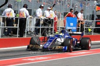 World © Octane Photographic Ltd. Formula 1 - Canadian Grand Prix - Saturday - Practice 3. Marcus Ericsson – Sauber F1 Team C36. Circuit Gilles Villeneuve, Montreal, Canada. Saturday 10th June 2017. Digital Ref: 1853LB1D5937