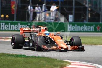 World © Octane Photographic Ltd. Formula 1 - Canadian Grand Prix - Saturday - Qualifying. Fernando Alonso - McLaren Honda MCL32. Circuit Gilles Villeneuve, Montreal, Canada. Saturday 10th June 2017. Digital Ref: 1854LB1D6208