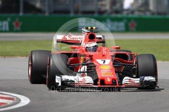 World © Octane Photographic Ltd. Formula 1 - Canadian Grand Prix - Saturday - Qualifying. Kimi Raikkonen - Scuderia Ferrari SF70H. Circuit Gilles Villeneuve, Montreal, Canada. Saturday 10th June 2017. Digital Ref: 1854LB1D6330