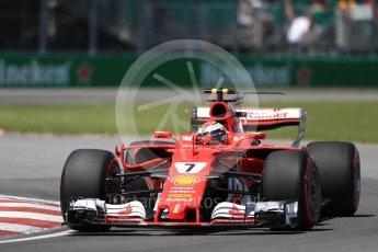 World © Octane Photographic Ltd. Formula 1 - Canadian Grand Prix - Saturday - Qualifying. Kimi Raikkonen - Scuderia Ferrari SF70H. Circuit Gilles Villeneuve, Montreal, Canada. Saturday 10th June 2017. Digital Ref: 1854LB1D6335