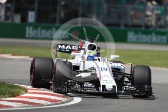 World © Octane Photographic Ltd. Formula 1 - Canadian Grand Prix - Saturday - Qualifying. Felipe Massa - Williams Martini Racing FW40. Circuit Gilles Villeneuve, Montreal, Canada. Saturday 10th June 2017. Digital Ref: 1854LB1D6368