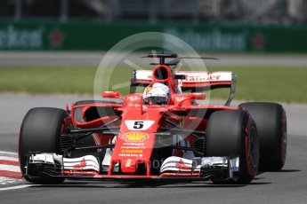 World © Octane Photographic Ltd. Formula 1 - Canadian Grand Prix - Saturday - Qualifying. Sebastian Vettel - Scuderia Ferrari SF70H. Circuit Gilles Villeneuve, Montreal, Canada. Saturday 10th June 2017. Digital Ref: 1854LB1D6509