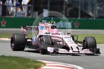 World © Octane Photographic Ltd. Formula 1 - Canadian Grand Prix - Saturday - Qualifying. Esteban Ocon - Sahara Force India VJM10. Circuit Gilles Villeneuve, Montreal, Canada. Saturday 10th June 2017. Digital Ref: 1854LB1D6518