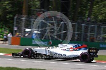 World © Octane Photographic Ltd. Formula 1 - Canadian Grand Prix - Saturday - Qualifying. Felipe Massa - Williams Martini Racing FW40. Circuit Gilles Villeneuve, Montreal, Canada. Saturday 10th June 2017. Digital Ref: 1854LB2D3138
