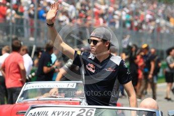 World © Octane Photographic Ltd. Formula 1 - Canadian Grand Prix - Sunday Drivers Parade & Grid. Daniil Kvyat - Scuderia Toro Rosso STR12. Circuit Gilles Villeneuve, Montreal, Canada. Sunday 11th June 2017. Digital Ref: 1856LB1D7421
