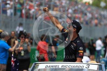 World © Octane Photographic Ltd. Formula 1 - Canadian Grand Prix - Sunday Drivers Parade & Grid. Daniel Ricciardo - Red Bull Racing RB13. Circuit Gilles Villeneuve, Montreal, Canada. Sunday 11th June 2017. Digital Ref: 1856LB1D7465