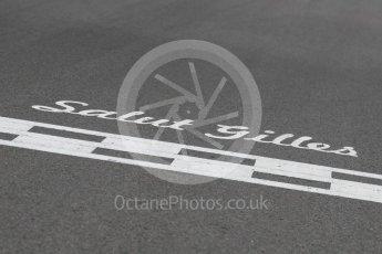 World © Octane Photographic Ltd. Formula 1 - Canadian Grand Prix - Sunday Drivers Parade & Grid. Salut Gilles. Circuit Gilles Villeneuve, Montreal, Canada. Sunday 11th June 2017. Digital Ref: 1856LB1D7502