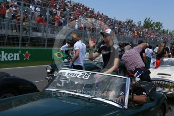 World © Octane Photographic Ltd. Formula 1 - Canadian Grand Prix - Sunday Drivers Parade & Grid. Daniil Kvyat - Scuderia Toro Rosso STR12. Circuit Gilles Villeneuve, Montreal, Canada. Sunday 11th June 2017. Digital Ref: 1856LB2D3304