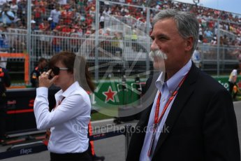 World © Octane Photographic Ltd. Formula 1 - Canadian Grand Prix - Sunday Drivers Parade & Grid. Chase Carey - Chief Executive Officer of the Formula One Group. Circuit Gilles Villeneuve, Montreal, Canada. Sunday 11th June 2017. Digital Ref: 1856LB2D3382