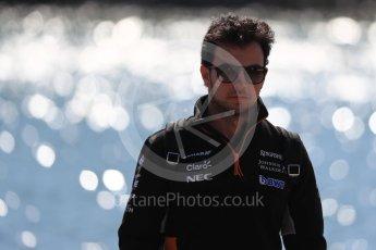 World © Octane Photographic Ltd. Formula 1 - Canadian Grand Prix - Sunday Paddock. Sergio Perez - Sahara Force India VJM10. Circuit Gilles Villeneuve, Montreal, Canada. Sunday 11th June 2017. Digital Ref: 1855LB1D7169