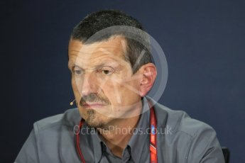 World © Octane Photographic Ltd. Formula 1 - Canadian Grand Prix - Friday FIA Team Personnel Press Conference. Guenther Steiner - Team Principal of Haas F1 Team. Circuit Gilles Villeneuve, Montreal, Canada. Friday 9th June 2017. Digital Ref: 1852LB1D4316