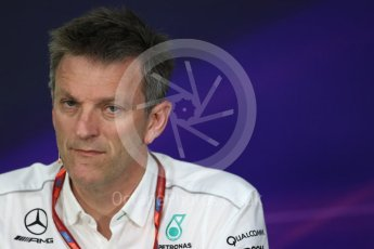 World © Octane Photographic Ltd. Formula 1 - Canadian Grand Prix - Friday FIA Team Personnel Press Conference. James Allison - Technical Director of Mercedes-AMG Petronas Motorsport. Circuit Gilles Villeneuve, Montreal, Canada. Friday 9th June 2017. Digital Ref: 1852LB1D4385