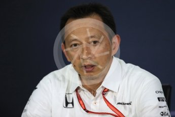 World © Octane Photographic Ltd. Formula 1 - Canadian Grand Prix - Friday FIA Team Personnel Press Conference. Yusuke Hasegawa – Chief of Honda F1 project. Circuit Gilles Villeneuve, Montreal, Canada. Friday 9th June 2017. Digital Ref: 1852LB1D4488