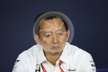 World © Octane Photographic Ltd. Formula 1 - Canadian Grand Prix - Friday FIA Team Personnel Press Conference. Yusuke Hasegawa – Chief of Honda F1 project. Circuit Gilles Villeneuve, Montreal, Canada. Friday 9th June 2017. Digital Ref: 1852LB1D4565