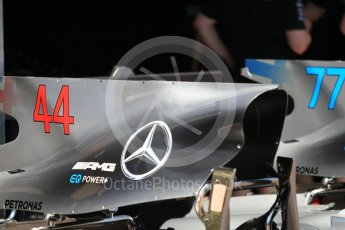 World © Octane Photographic Ltd. Formula 1 - Monaco Grand Prix Setup. Lewis Hamilton and Valtteri Bottas - Mercedes AMG Petronas F1 W08 EQ Energy+. Monaco, Monte Carlo. Wednesday 24th May 2017. Digital Ref:
