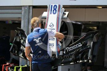 World © Octane Photographic Ltd. Formula 1 - Monaco Grand Prix Setup. Lance Stroll - Williams Martini Racing FW40. Monaco, Monte Carlo. Wednesday 24th May 2017. Digital Ref: