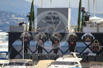 World © Octane Photographic Ltd. Formula 1 - Monaco Grand Prix Setup. Red Bull Racing hospitality unit. Monaco, Monte Carlo. Wednesday 24th May 2017. Digital Ref: