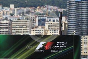 World © Octane Photographic Ltd. Formula 1 - Monaco Grand Prix Setup. Paddock entrance. Monaco, Monte Carlo. Wednesday 24th May 2017. Digital Ref: