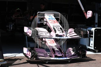 World © Octane Photographic Ltd. Formula 1 - Monaco Grand Prix Setup. Esteban Ocon - Sahara Force India VJM10. Monaco, Monte Carlo. Wednesday 24th May 2017. Digital Ref: