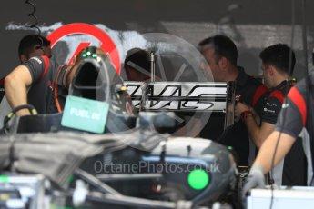 World © Octane Photographic Ltd. Formula 1 - Monaco Grand Prix Setup. Haas F1 Team VF-17. Monaco, Monte Carlo. Wednesday 24th May 2017. Digital Ref: