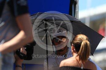 World © Octane Photographic Ltd. Formula 1 - Spanish Grand Prix Driver's Parade. Lewis Hamilton - Mercedes AMG Petronas F1 W08 EQ Energy+. Circuit de Barcelona - Catalunya, Spain. Sunday 14th May 2017. Digital Ref: 1824LB1D3647
